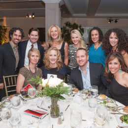 People at benefit for HB Studio, provider of acting classes in NYC