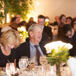 Peole seated at at benefit for HB Studio, provider of acting classes in NYC