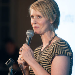 Cynthia Nixon speaks at benefit for HB Studio, provider of acting classes in NYC
