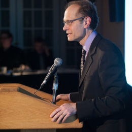 David Hyde Pierce speaks at 2013 benefit at HB Studio, provier of acting classes in NYC