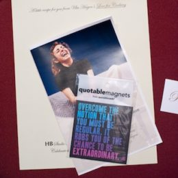 Programs and magnets at benefit for HB Studio, provider of acting classes in NYC