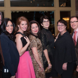 Six women at 70th Anniversary Celebration for HB Studio, provider of NYC acting classes