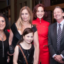 Five people at 70th Anniversary Celebration for HB Studio, provider of NYC acting classes