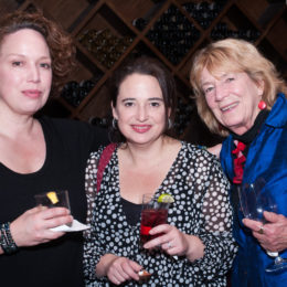 Three women at 70th Anniversary Celebration for HB Studio, provider of NYC acting classes