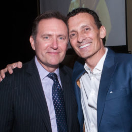 Vicotr Slezak and Ted Brunetti at 70th Anniversary Celebration for HB Studio, provider of NYC acting classes