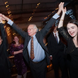 People dancing at 70th Anniversary Celebration for HB Studio, provider of NYC acting classes