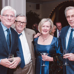 Phil Donohue, Ed Morehouse, Marion McCorry, and Sam Groom at benefit for HB Studio, provider of acting classes in NYC