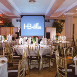 Decorations at benefit for HB Studio, provider of acting classes in NYC