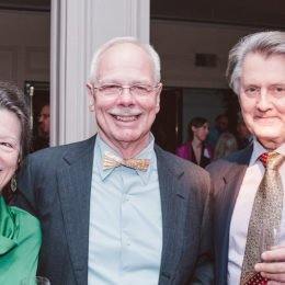 Rasa Allan Kazlas, Jim Boerlin, and Joseph Kazlas at benefit for HB Studio, provider of acting classes in NYC