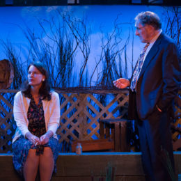 Judd Hirsch and Kathryn Danielle onstage in Talley's Folly, a benefit for HB Studio, provider of NYC acting classes