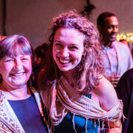 Two women at HB Studio having fun
