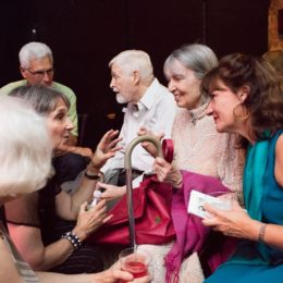 People at 90th birthday celebration for Helen Gallagher, HB Studio teacher of Singing for the Musical Theater