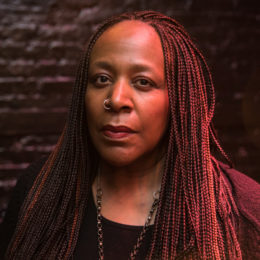 Dael Orlandersmith at production of Until the Flood at HB Studio Theater