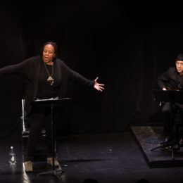 Dael Orlandersmith and Elliott Sharp performing at benefit for HB Studio, provider of NYC acting classes