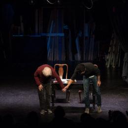 Austin Pendleton and Christopher Abbott taking a bow