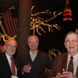 Jim Boerlin and Edward Morehouse at benefit for HB Studio, provider of acting classes in NYC