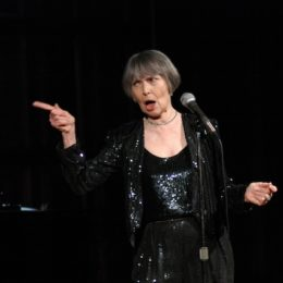 Helen Gallagher performing at benefit to honor Austin Pendleton at HB Studio, provider of NYC acting classes
