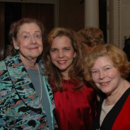 Elizabeth Wilson, Katherin Cullison, and Anne Jackson at benefit for HB Studio, provider of acting classes in NYC