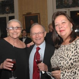 Donna De Matteo and two other people at benefit for HB Studio, provider of acting classes in NYC