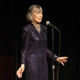Helen Gallagher singing at benefit for HB Studio, provider of acting classes in NYC