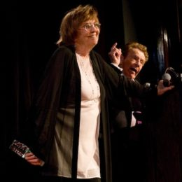 Anne Meara and Jerry Stiller at benefit for HB Studio, provider of acting classes in NYC