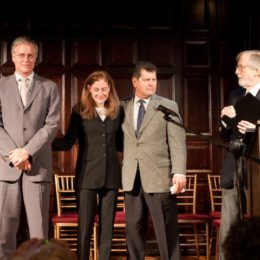 Horton Foote, Jr, and others onstage at benefit for HB Studio, provider of acting classes in NYC
