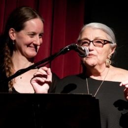 Edith Meeks and Donna de Matteo at benefit for HB Studio, provider of acting classes in NYC
