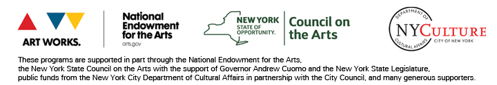 NEA, NYSCA, and the NYC DCA credits