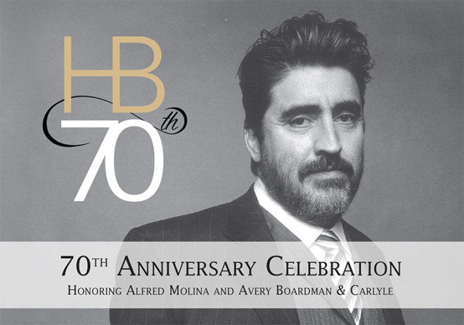Alfred Molina and Avery Boardman & Carlyle- HB Studio 70th