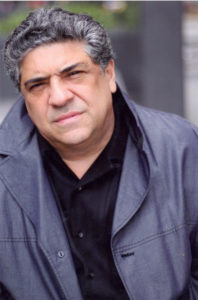 Vincent Pastore looks straight into the camera