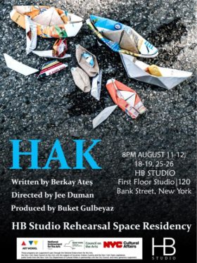 HAK The Play is part of HB Studio's 2018 Residency Program