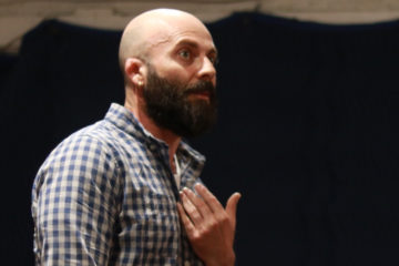 An actor performing during acting class at HB Studio