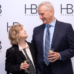 Johanna Leister and Jim Broaddus at HB Studio's Uta Hagen at 100 Gala