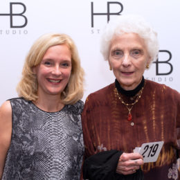 Two women attending HB Studio's Uta Hagen at 100 Gala