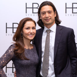 Jessica and Sebastién Douieb at HB Studio's Uta Hagen at 100 Gala