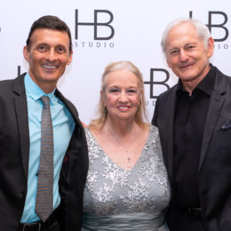 Ted Brunetti, Letty Ferrer and Victor Garber at HB Studio's Uta Hagen at 100 Gala