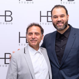 David Deblinger and Erik Betancourt at HB Studio's Uta Hagen at 100 Gala