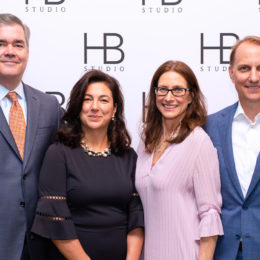 Cindy Curtis Nelson, Michael Nelson, and friends at HB Studio's Uta Hagen at 100 Gala