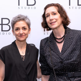 Board member Alison Lonshein with board President Marie-Louise Stegall at the Uta Hagen at 100 Gala
