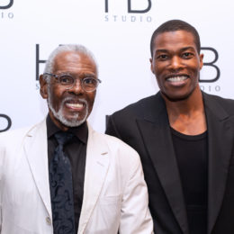 Gus Solomons Jr and Demetrius Blocker at HB Studio's Uta Hagen at 100 Gala