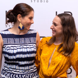 Sonia Mera and Andrea Velasco at HB Studio's Uta Hagen at 100 Gala