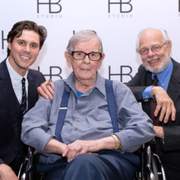 Grant Schumacher, Ed Morehouse, and Jim Boerlin at HB Studio's Uta Hagen at 100 Gala