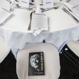 Programs and menus set at HB Studio's Uta Hagen at 100 Gala