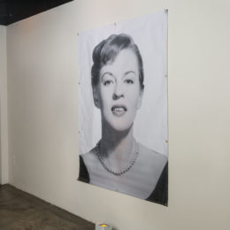 A portrait of young Uta Hagen greeted guests at the Uta Hagen at 100 Gala