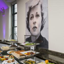 Hors d'oeuvres table at HB Studio's Uta Hagen at 100 Gala