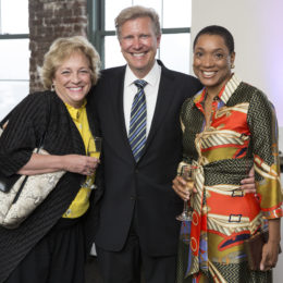 Barbara King, David Rich, and friend at HB Studio's Uta Hagen at 100 Gala