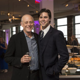 Mark Blum and Grant Schumacher at HB Studio's Uta Hagen at 100 Gala