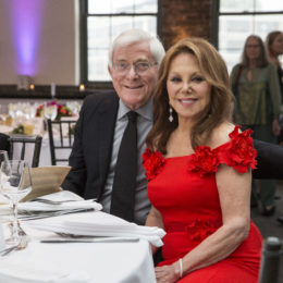 Phil Donahue and Marlo Thomas at HB Studio's Uta Hagen at 100 Gala