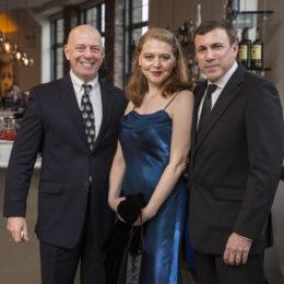 Duncan Hazard, Snezhana Chernova, and Thomas Tinelli at HB Studio's Uta Hagen at 100 Gala