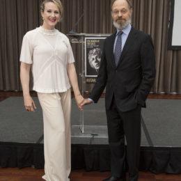 Co-hosts Katie Finneran and David Hyde Pierce at HB Studio's Uta Hagen at 100 Gala